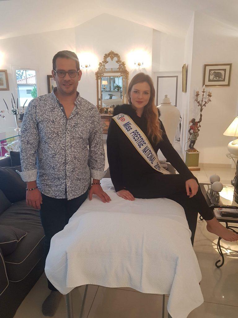 Séance de réflexologie pour Charlotte Depaepe Miss Prestige Nationale 2018